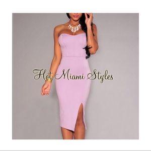 Strapless Lilac Dress
